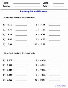 decimals rounding worksheets 7269 decimals worksheets dynamically created decimal worksheets