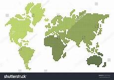 pixel design world map stock vector 120791632
