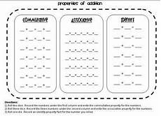 associative property of addition worksheets grade 3 9208 identity addition commutative associative and distributive properties worksheet 3rd grade