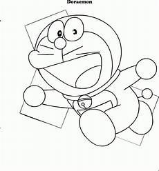 Mewarnai Gambar Doraemon Contoh Anak Paud
