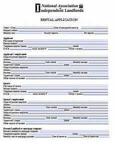 printable sle free rental application form form rental application real estate forms free