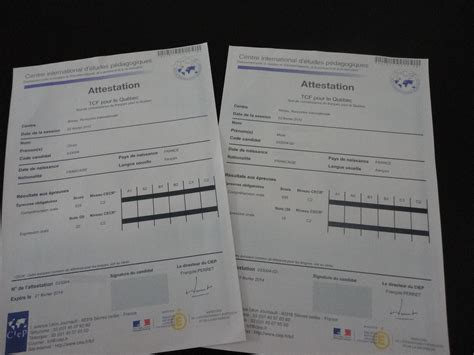 Exemple Tcf Quebec