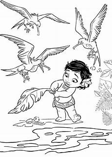 ausmalbilder disney vaiana baby