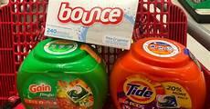 70 off tide pods gain flings and bounce dryer sheets after target gift card cash back hip2save