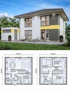 Stadtvilla Neubau Modern Grundriss Mit Garage Walmdach
