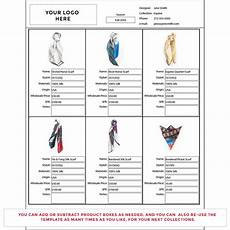 how to create a line sheet for clothing wholesale line sheet template business fashion business essentials templates