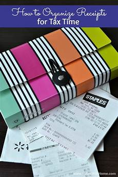 how to organize receipts for tax time