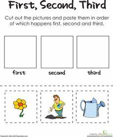 first second third a gardener s thumb sequencing worksheets kindergarten reading
