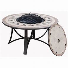 table de jardin basse ronde hawai aspect fer forg 233 et