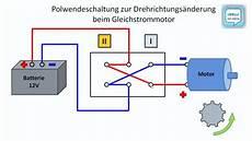 polwechsel schaltung im gleichstromkreis drehrichtung