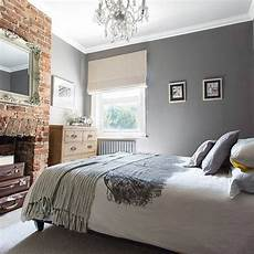 Bedroom Ideas Grey Walls by Beautiful Grey And White Bedroom And Feature Brick