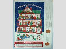 berry merry christmas calendar fabric