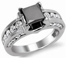 black and white princess cut diamond engagement rings wedding and bridal inspiration