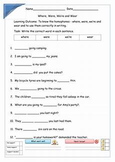 where were we re wear homophones 24 slide powerpoint lesson set of 4 worksheets and info