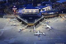 Haj Flughafen Hannover Nacht Luftbild Luftbilder