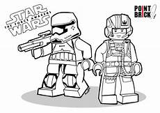 disegni da colorare lego star wars the force awakens first order stormtrooper and poe dameron