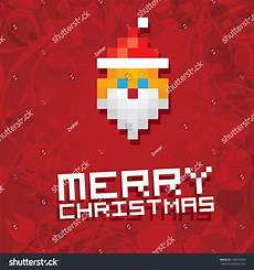 christmas pixel style poster for party or greeting card pixel art merry christmas