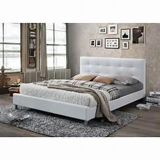 lit blanc avec t 234 te de lit capitonn 233 e 160 3 suisses