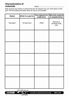 science worksheets materials 12296 schools science characteristics of materials worksheet