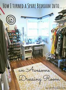 real dressing room how to turn spare bedroom into walk in closet dream closet elfa closet