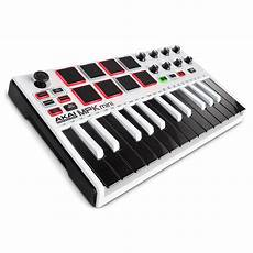 mpk mini 2 akai mpk mini mk2 laptop production keyboard white at gear4music