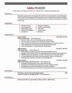 best legal assistant resume exle livecareer