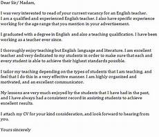 aplication leter teacher of english english teacher cover letter exle learnist org