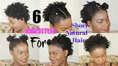 6 quick easy everyday natural hairstyles for short medium twa natural hair