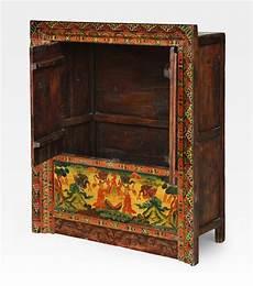 credenza tibetana credenza tibetana a incasso dipinta legno di pino cod