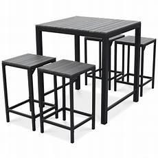 table et chaise de terrasse table terrasse haute 4 tabourets