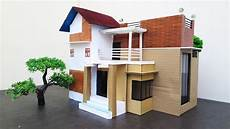 how to make a beautiful modern house from cardboard