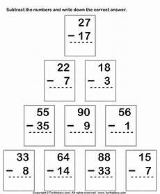 multiple digits vertical subtraction with regrouping subtracting from two digit number with regrouping