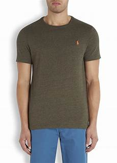 polo ralph olive cotton t shirt in green for lyst