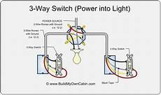 3 Way Switch Diagram Power Into Light For The Home 3