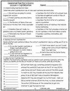 punctuation worksheets l2 20825 grammar worksheets and tests grades 7 8 no prep printables by lovin lit