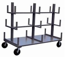 Cart Pipe by Pipe Rolling Rack Mobile Cantilever Rack Dc