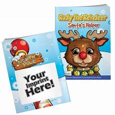 rudy the reindeer coloring book with mask promotional