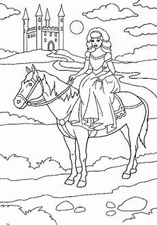 Malvorlagen Na Omalov 225 Nky Princezna Na Koni U Hradu K Vytisknut 237 Zdarma