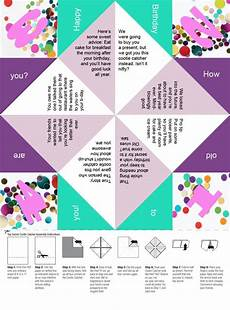 free printable a confetti birthday paper fortune teller even better than a card printable