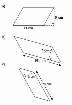 area of parallelograms worksheets solutions exles