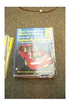 car repair manuals online free 1989 mercury cougar electronic toll collection haynes ford thunderbird mercury cougar 1989 thru 1997 auto repair manual ebay
