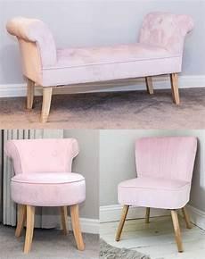luxurious soft pink velvet oyster vanity chair bench ottoman bedroom furniture s ebay