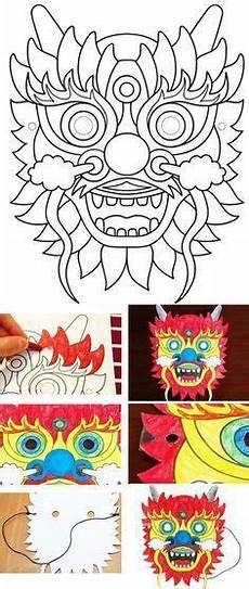 neujahr malvorlagen ninjago diy de masque de drachen masken basteln