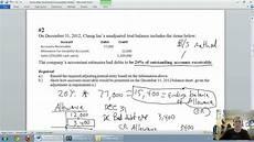 accounting unit 5 part 3 allowance for doubtful accounts balance sheet method youtube