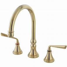 brass faucets kitchen kingston brass ks2792zlls silver widespread kitchen faucet polished brass kingston brass
