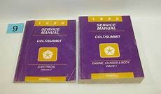 how to download repair manuals 1996 eagle summit parking system 1996 dodge colt eagle summit factory service manual set good used condition 9 ebay