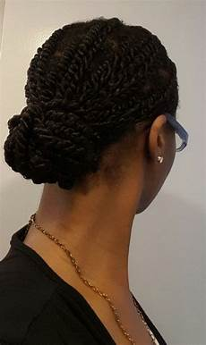 twists protective style natural hair tutorial