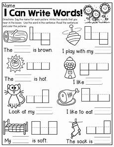 writing sentence worksheets kindergarten 22192 i can write words read and write simple words with simple sentences kindergarten writing