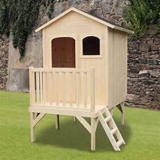 maison sur pilotis enfant maisonnette enfant bois sur pilotis l135 x p115 x h30 cm