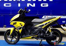 Aerox Kuning Modif by Galeri Modifikasi Yamaha Aerox 125 Warna Kuning Movistar